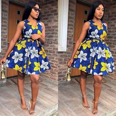 Ankara endowing Prints and styles to Rock - VincisZone Short African Dresses, Ankara Short Gown Styles, Short Gowns, African Print Dresses, African Clothes, African Prints, African Fabric, African Fashion Ankara, African Print Fashion