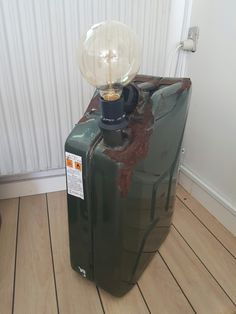 Jerry can light diy. Jerry Can Mini Bar, Diy Light, Can Lights, Pipe Lamp, Industrial Lighting, Fish, Mood, Canning, Cool Stuff