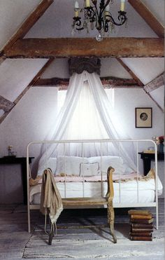 love the rough beams and the simplicity of it all