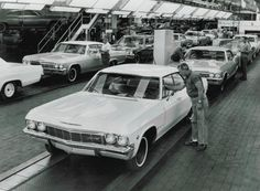 1965 Chevrolet assembly line.