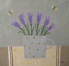 New painting 'Bees like Lavender' Art Flowers, Flower Art, British Artists, Floral Artwork, Plant Art, Design Crafts, Still Life, Art For Kids, Lavender