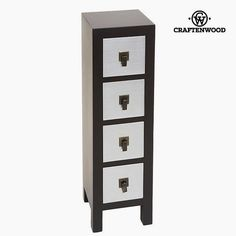 Cassettiera Mdf x 24 x 85 cm) - Modern Collezione by Craftenwood Wardrobe With Dressing Table, Armoire, Chest Of Drawers, Decoration, Filing Cabinet, Home Furniture, Locker Storage, Dresser, The Originals