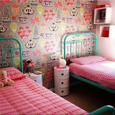 A very stylish Mocka customer set this girls bedroom up. Mocka's Post Boxes look great against the vibrant colours.
