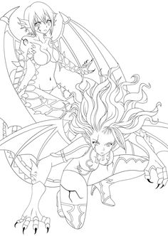 Demon Coloring Pages for Adults   Kleurplaten wolf ...