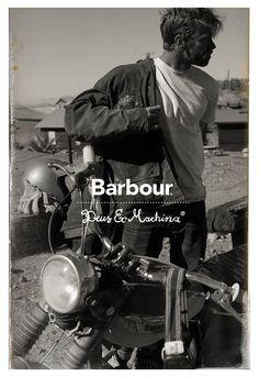 Barbour International collabore avec le fabriquant de motos sur-mesure australien Deus Ex Machina pour sa collection automne-hiver 2014. #barbour #deusexmachina #moto #motard #hiver2014 #cuir