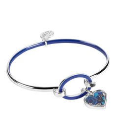 Look at this Blue Bayou Heart Charm Bangle on #zulily today!
