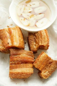 A Filipino Cuisine. THIS IS THE BEST LECHON KAWALI… AND IT IS MADE OF ONLY THREE INGREDIENTS… HOW TO COOK CRISPY LECHON KAWALI -FILIPINO CRISPY FRIED PORK BELLY http://www.theskinnypot.com/how-to-cook-crispy-lechon-kawali-filipino-crispy-fried-pork-belly/