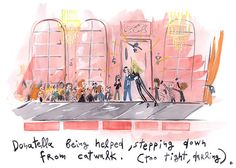 Illustration: Konstantin Kakanias captures Paris Couture with wit and flair