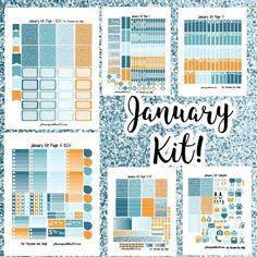 FREE January Colors Weekly KIT! | Free Printable Planner Stickers