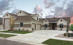 Arlington Floor Plan With Rv Bay Amyx Signature Homes Garage Plans Stucco