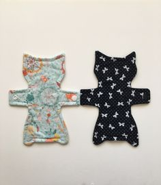 Cloth panty liner daily wear 8 inch cat shaped reusable washable sanitary cloth liner by ScarletCloth on Etsy