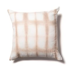 Grid Shibori Pillow in Taupe