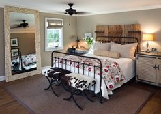 Coastal Ranch - farmhouse - Bedroom - San Diego - Anne Sneed Architectural Interiors