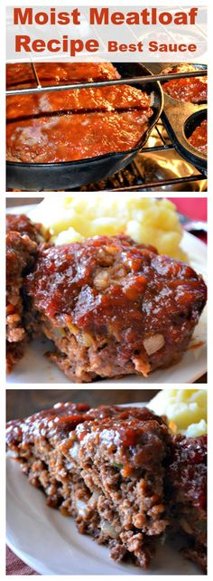 Moist Meatloaf Recipe with the Best Sauce – This meatloaf is the best ever. Extr… Moist meatloaf recipe with the best sauce – This meatloaf is the best ever. Extremely moist and spicy! : Recipes for our daily bread Moist Meatloaf Recipes, Meat Recipes, Cooking Recipes, Mexican Recipes, Casserole Recipes, Recipies, Mexican Desserts, 2 Lb Meatloaf Recipe, Meatloaf Ingredients