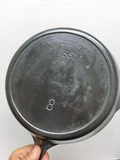 RARE Griswold unmarked 755 with clear Victor 722 Ghost Mark Cast Iron Skillet