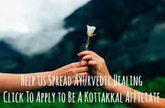 Click for the requirements to become an affiliate with us and the link to apply! - Kottakkal Ayurveda