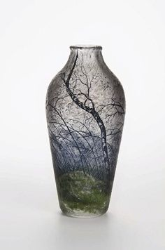 "Daum, vase ""orage"", cameo glass, engraved, 1900-1905"