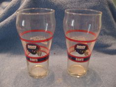 2 old er NFL Coca Cola Coke NY Giants drinking Glasses picclick.com