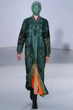maison martin margiela...fall 2012  at least you needn't worry about makeup.