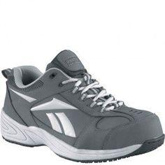 03fb21a550800f RB1880 Reebok Men s Jorie Safety Shoes - Grey www.bootbay.com
