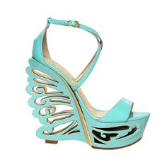 Le Silla 145MM Patent Mirror Butterfly Wedges -loving the designs in the heels