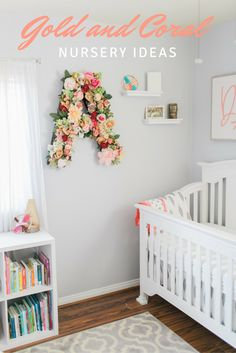 Gold and Coral Nursery ideas