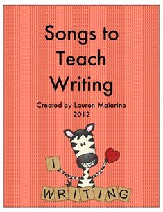 Songs to Teach Writing- 6 Traits of Writing Songs to Teach Writing- 6 Traits of Writing Related Post pixel. See, look, and watch 30 Ways to Use Chromebook in Education Find the Letter & Swat It! Fifth Grade Writing, Kindergarten Writing, Kids Writing, Teaching Writing, Writing Activities, Teaching Tools, Writing A Book, Writing Songs, Writing Ideas