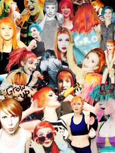 Hayley Williams collage wallpaper