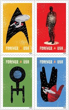 """Star Trek"" Stamps"