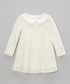 Ivory Floral Swing Dress - Toddler & Girls