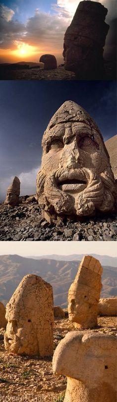 ::::♡ ♤ ♤ ✿⊱╮☼ ☾ PINTEREST.COM christiancross ☀❤ قطـﮧ ⁂ ⦿ ⥾ ⦿ ⁂  ❤U •♥•*[†] :::: Mount NEMRUT, Turkey