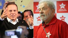 João Doria (PSDB),prefeito eleito em São Paulo no primeiro turno, respondeu a uma provocação de Lula Aovotar em São Bernardo do Campo (SP), Lula havia dito que São Paulo corria o risco de eleger ...