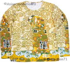 THE EMBRACE Gustav Klimt Long Sleeve Fine Art Print T Shirt Misses S M L XL PN #PN #KnitTop #Casual