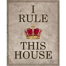 Do you rule the house? Then this picture is perfect for you! For only at Wilko