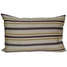 @Overstock - Bold stripes of purple with soft gold and cream create this stylish pillow. This pillow features a knife edge and rectangle shape.   http://www.overstock.com/Home-Garden/RLF-Home-Tuxedo-Amethist-20-inch-x-13-inch-Pillow/7666981/product.html?CID=214117 $39.99