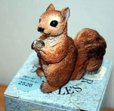 "Vintage Stone Critters ""Littles"" Squirrel by United Design. FREE Shipping!"