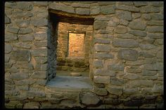 Ancient doorways at Aztec National Monument, New Mexico