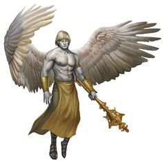 Angel, Deva (from the D&D fifth edition Monster Manual). Art by Conceptopolis.