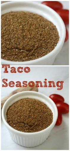 Taco Seasoning Mix Recipe. Use in tacos, burritos, enchiladas and nachos. This recipe is for 1 pound of ground beef.