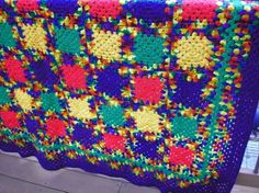 crochet colorful afghan and cover for your home (part 2) | make handmade, crochet, craft
