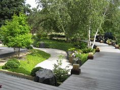 Japanese garden with dry pond from Niwa Design Studio Ltd