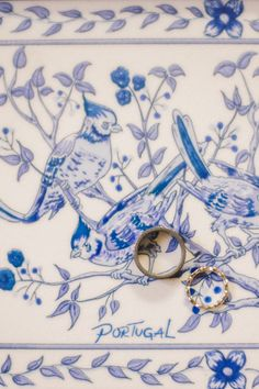 Perfect Portugal wedding ring shot with traditional azulejos for an elopement in Lisbon