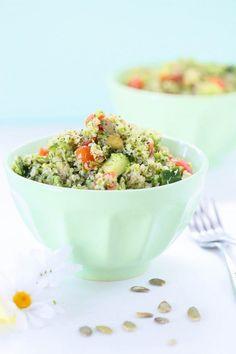 Eat Good 4 Life Broccoli quinoa salad. Broccoli quinoa salad using Nuts.com. Gluten free and vegan and made w/ a new method using broccoli. Broccoli rice. Check it out. This recipe is sensational.