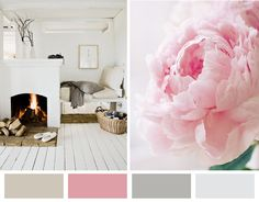 Pink and grey.  Color Palate for bedroom #2