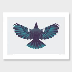 Forest Flight Art Print by Glenn Jones NZ Art Prints, Art Framing Design Prints, Posters & NZ Design Gifts | endemicworld