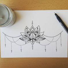 #lotus #mandala #underboob #sternum