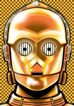 C-3PO Head Drawing | ... digital media comics other 2012 2015 thuddleston c 3po head shot manga