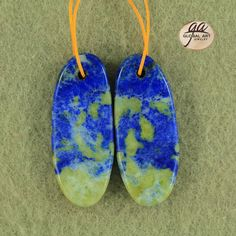 EA11062  Beautiful Lapis Lazuli Earrings Bead by Artiststone