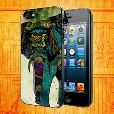 Colourful Elephant for iPhone 5S iPhone 5C iPhone 5 by HEAVENSOLO, $13.00