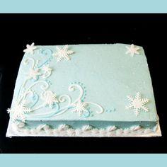 winter onederland sheet cake - Google Search